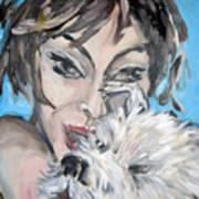 Dog And Diva Art Print