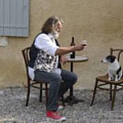 Dog And Master Art Print