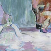 Dog And Spilled Milk Art Print