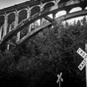 Dog Creek Bridge Railroad  Crossing Art Print