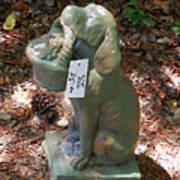 Dog Garden Statues Art Print