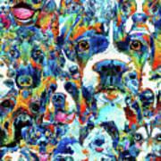 Dog Lovers Delight - Sharon Cummings Art Print
