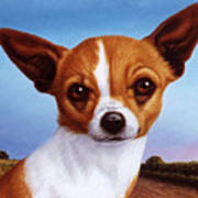 Dog-nature 3 Art Print