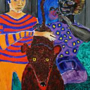 Dog Park At Night Art Print