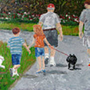 Dog Walkers Art Print