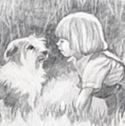 Dog Whisperer Art Print
