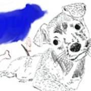 Doggie Dreams Art Print