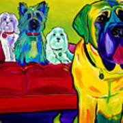 Dogs - Droolers Get The Floor Art Print by Alicia VanNoy Call