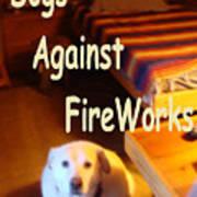 Dogs Against Fireworks Art Print