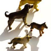Dogs Figurines Art Print