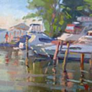 Docks At The Shores  Art Print