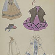 Doll And Wardrobe Art Print