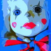 Doll In Blue Art Print