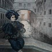 Doll In Venice Art Print