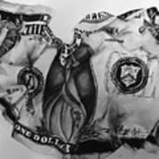 Dollar Bill Art Print