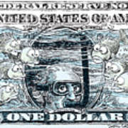 Dollar Submerged Art Print