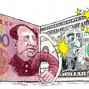 Dollar Vs Yen Art Print