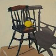 Doll's Chair With Lemon Art Print