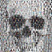 Dolls Skull Mosaic Art Print