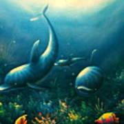 Dolphin Euphoria Art Print