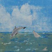 Dolphin Frolic Art Print