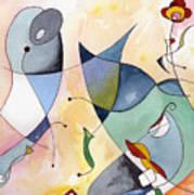 Dolphin Garden Art Print
