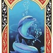 Dolphin Mecca Art Print