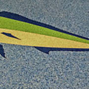 Dolphinfish Inlay On Alabama Welcome Center Floor Art Print