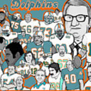 Dolphins Ring Of Honor Art Print by Gary Niles