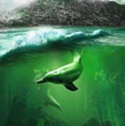 Dolphins Print by Svetlana Sewell