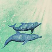 Dolphins Art Print by Wayne Hardee