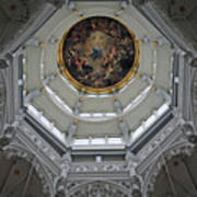 Dome Of Cathedral Of Our Lady Antwerp Art Print