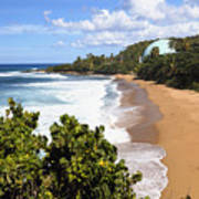 Domes Beach Rincon Puerto Rico Print by George Oze