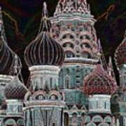 Domes Of St. Basil Cw Art Print