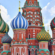 Domes Of St. Basil Art Print