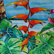 Dominican Heliconia Art Print