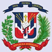 Dominican Republic Coat Of Arms Art Print