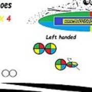 Dominoes' Colours 4 X 4 Art Print