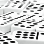 Dominoes I Art Print by Tom Mc Nemar