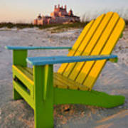 Don Cesar And Beach Chair Art Print
