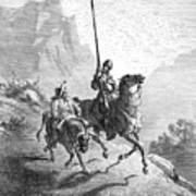 Don Quixote And Sancho Art Print by Granger
