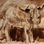 Donkey Daze Art Print