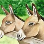 Donkey Duo Art Print