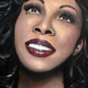 Donna Summer Art Print by Tom Carlton