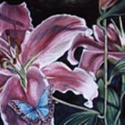 Donna's Flowers Art Print