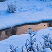 Donnelly Creek In Winter Art Print