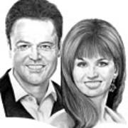 Donnie And Marie Osmond Art Print