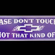 Don't Touch My Car Art Print