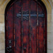 Door At Bath Abbey Art Print