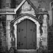 Door At St. Johns In Tralee Ireland Art Print